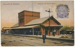 Recuerdo De Paysandu Estacion Del Ferro Carril  Edit No 73 Guillermo Bongoll - Uruguay