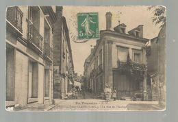 Cp , 37 , PREUILLY SUR CLAISE , La Rue De L'horloge , Voyagée 1918 - Frankrijk