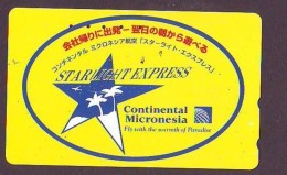 Télécarte  JAPON *  * CONTINENTAL MICRONESIE   (2290) * Phonecard JAPAN * Airplane * Flugzeug AVION * AIRLINE - Avions