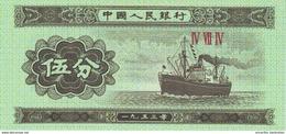 CHINA 5 FEN 1953 P-862b UNC [CHI862b] - Chine