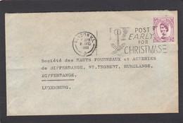 STEWARTS AND LLOYDS,LIMITED,GLASCOW,BIRMINGHAM & LONDON. LETTRE  POUR HADIR,DIFFERDANGE(LUXEMBOURG). - 1952-.... (Elisabeth II.)