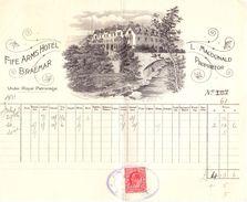 Factuur Facture Note Bill - Fire Arms Hotel - Braemar - 1911 - Scotland - Royaume-Uni