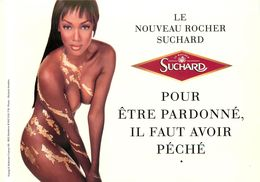Carte' Com , Thème Pub , Chocolat Suchard  ( Scan Recto Et Verso ) - Publicité