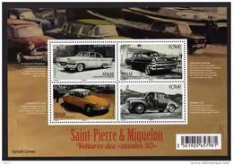 St Pierre Et Miquelon 2015 - Citroën DS, Renault 4cv, Mercury, Studbaker Présid, Voitures Des Années 50 - BF Neuf // Mnh - Blocs-feuillets