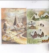 Lot De 20 Cartes Bonne Année;Paysages,villages  Sous La Neige Fleurs,pont,étang,oiseaux,enfant,calèche.... - Neujahr