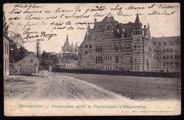 TRES RARE ! BONSECOURS ( Peruwelz ) - PANORAMA AVEC LE PENSINNAT D'ESQUERMES - édit. Jorion - Dubois - Péruwelz