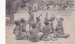 CPA CONGO Français Mission Catholique BRAZZAVILLE Ecole De La Mission Elèves Patriotes Patriotique  Missionary (2 Scans) - Brazzaville