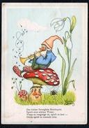 A6714 - Alte Glückwunschkarte - Künstlerkarte Spenz 1941 - Zwerg Heinzelmännchen Fliegenpilz Propaganda Kontrollstempel - Birthday
