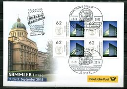 "Germany 2015 Ausstellungsbeleg SBERATEL,Prag M.Mi.Nr.3138 U.SST""Bonn-SBERATEL,Prag""1Beleg - Tschechische Republik"