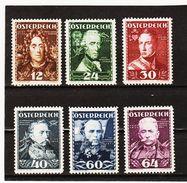 MAG1090 AUSTRIA ÖSTERREICH 1935 Michl 617/22  ** Postfrisch Siehe ABBILDUNG - Ungebraucht
