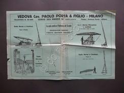 Vedova Paolo Porta Milano Fabbrica Scale Pompieri Incendi Pieghevole Pubblicità - Vecchi Documenti