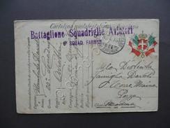 Cartolina Battaglione Squadriglie Aviatori 6° Squadra Farman 1916 Viaggiata WW1 - Zonder Classificatie