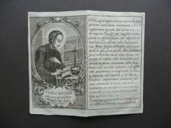 Santino Incisione S.Luigi Gonzaga Gesuita Protettore Scolari Primo Ottocento - Altre Collezioni