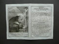 Santino Incisione S.Ignazio Loyola Gesuita Preghiera Silani Primo Ottocento Fede - Autres Collections