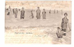Heist / Heyst-sur-Mer - Les Bains - 1905 - Zeer Geanimeerd - Kinderen - Enkele Rug - Heist
