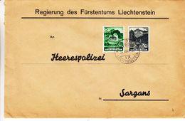 Liechtenstein - Lettre De Service De 1944 * - Oblit Vaduz - Exp Vers Sargans - Avec Seulemnt 1 Timbre De Service  ! - Covers & Documents