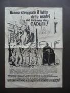 Manifesto Politica Hanno Strappato Il Lutto Delle Madri Sacrario Caduti Anni '60 - Vecchi Documenti