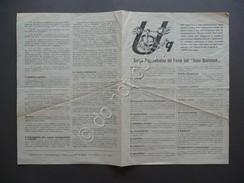 Volantino Sintesi Programmatica Del Fronte Dell'Uomo Qualunque Politica Anni '40 - Vecchi Documenti