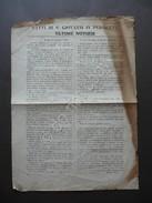 Fatti Di S.Giovanni In Persiceto Ultime Notizie Legge Macinato Repressione 1869 - Vecchi Documenti