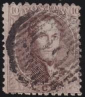 Belgie   .    OBP    .     14  A        .        O     .     Gebruikt  .   /   .    Oblitéré - 1863-1864 Medallions (13/16)