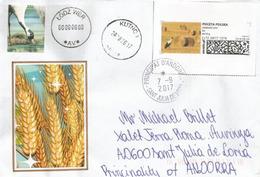 L'agriculture En Pologne, Récolte Du Blé, Lettre De Lodz Adressée ANDORRA, Avec Timbre à Date Arrivée - Agriculture