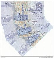 EGYPT 25 PT 2001 2002 2003 P-57 SIG/M.OYUN #20 LOT X3 UNC WITH START PREFIX 302 - Egypte