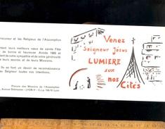 Calendrier Petit Format Mini Poche 1968 : Religieux De L'Assomption Procure Des Missions 2 Avenue Debrousse LYON 69005 - Calendriers