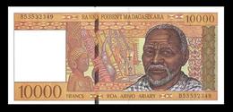 # # # Banknote Madagaskar 10.000 Francs UNC # # # - Madagaskar
