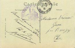 PIE 17-JM-6766 : CACHET FRANCHISE MILITAIRE 85° REGIMENT INFANTERIE SUR CARTE POSTALE DE FRANCONVILLE VAL D'OISE - Postmark Collection (Covers)