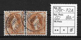STEHENDE HELVETIA Gezähnt → SBK-72A Im Paar - 1882-1906 Armoiries, Helvetia Debout & UPU