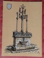 Dep 29 , Cpm SAINT THEGONNEC , Calvaire , H.Touleron (123) - Saint-Thégonnec