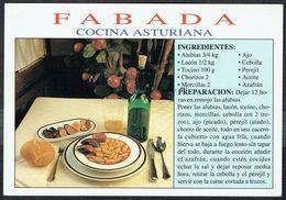 La Fabada - Cuisine Espagnole - Asturies - Non Circulé  - Not Circulated - Nicht Gelaufen. - Recipes (cooking)