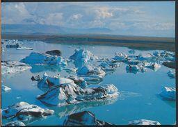 °°° 6442 - ICELAND - ICE BLOCKS IN THE R. JOKULSA ON BREIDAMERKUR SANDS - 1987 With Stamps °°° - Islanda