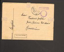 Bizone Dienstbrief D.Finanzamtes Lengfurt M.Stempel Frei D.Ablösung Reich U.Dienstsiegel Von 1947, Steuerbescheid - Zone Anglo-Américaine