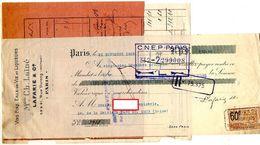 FACTURE+MANDAT+ LAISSEZ PASSER CONGE MAISON Ch. LAINE LAFARIE & Cie Vins Fins Eaux De Vie *1 TIMBRE FISCAL Année1925 197 - Food