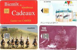 6 Cartes Téléphoniques Marocaines - Maroc