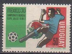 Soccer Football Uruguay #1169 1970 World Cup Mexico MNH ** - 1970 – Mexico