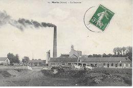 MARLE LA SUCRERIE ANIMEE EN 1913 PLAN INEDIT SUR DELCAMPE EDIT. BAUBE BON ETAT - France