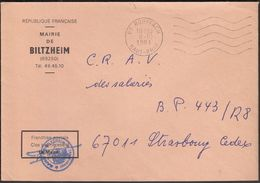 France Rouffach 1981 / Mairie De Biltzheim - Postmark Collection (Covers)