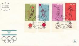 FDC ISRAEL 304-307 - Summer 1964: Tokyo