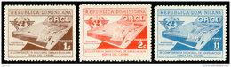 Dominican Republic, 1956, International Civil Aviation Organization, ICAO, United Nations, MNH, Michel 553-555 - Dominican Republic