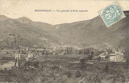 MONTPEZAT Vue Générale Et Pont Suspendu -1905- - France