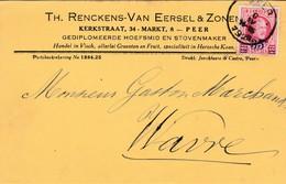 PEER,carte Publicité ,Th. Renckens-Van Eersel & Zonen - Peer