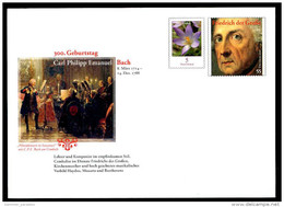 29949) BRD - Ganzsache Michel USo ? - ** Ungebraucht - 5 Neben 55C Carl Philipp Emanuel Bach - Ausg.: 1.3.2014 - [7] Federal Republic