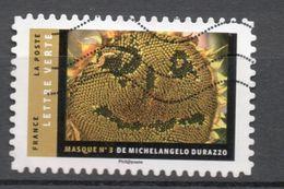 FRANCE 2017 Oblitéré - Masques -  Photographique De Michelangelo Durazzo - France