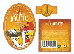 VENTRE JAUNE, à La Farine De Gaudes, Bière Blonde Bressane, 330ml 6,4° - Bière