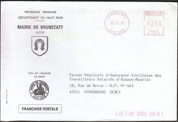France Brunstatt 1991 / Mairie De Brunstatt / Coat Of Arms / Horseshoe / Machine Stamp - 1961-....