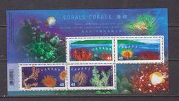 CANADA 2002, MNH  # 1951b  CORALS - Blocs-feuillets