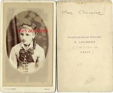CDV Mme Chocarne-amie De Marie DAUMAS-famille DAUMAS-MATHIAS-DELPECH-BRETONNECHE-photographie Laurens à Paris - Photos