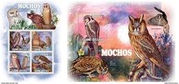 Guinea Bissau 2011 Nice Birds Of Prey Owls  Fauna Klb+s/s MNH - Vogels